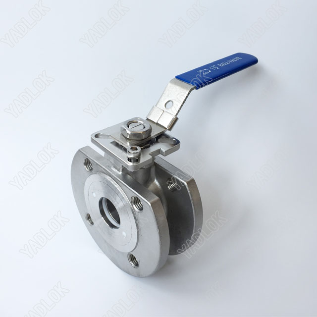 WAFER TYPE FLANGE BALL VALVE